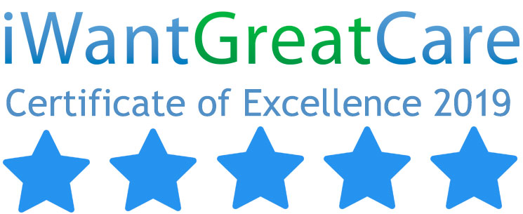 iwantgreatcare certificate of excellence 2019